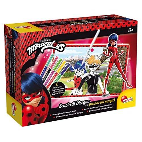 Lisciani Giochi- Ladybug Miraculous Gioco Scuola di Disegno con Pennarelli Magici, Multicolore, 66087.0