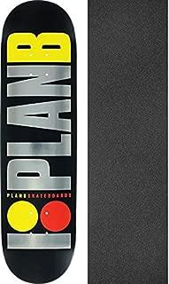 Plan B Skateboards Team OG Logo Black/Silver/Yellow/Red Skateboard Deck Black Ice - 8