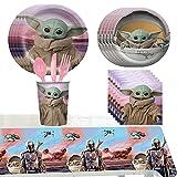81 Pcs Party Supplies Juego de Decoración Happy Birthday Party Vajilla para Cumpleaños de Niños Cartoon Theme Artículos para Fiesta de Cumpleaños Ideal para Niñas y Infantiles