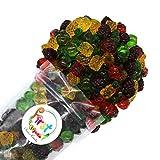 FirstChoiceCandy 3D Assorted Gummy Fruit Juicy Candy, 2 Pound