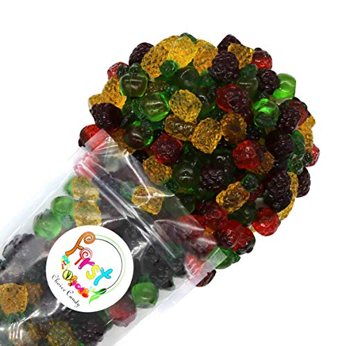 FirstChoiceCandy 3D Assorted Gummy Fruit Juicy Candy, 2 Pound