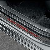 Protector de Estilo de la Puerta de automóviles, 4 unids/Set Pegatinas de umbral de umbral para Opel Astra Corsa Insignia Mokka OPC Vectra Auto Styling Protector Accesorios,Black Red