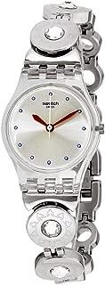 Swatch LK375G - Reloj analógico de cuarzo para mujer con correa de acero inoxidable