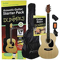 commercial Dummy acoustic guitar, natural (K394D) rogue guitar company