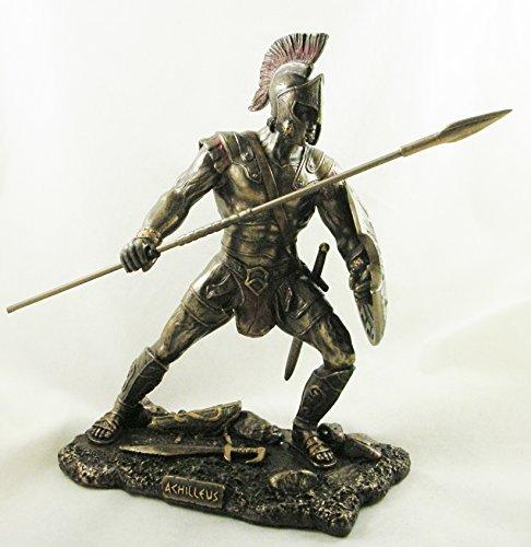Figura decorativa de Aquiles, el guerrero de la Antigua Grecia