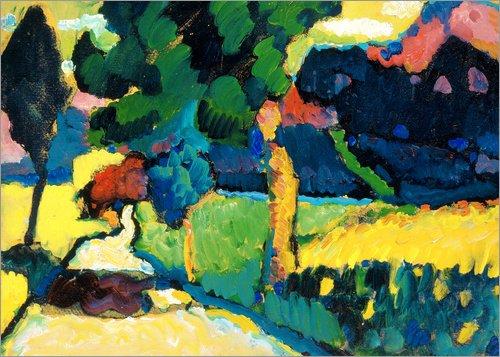 Posterlounge Lienzo 40 x 30 cm: Murnau, Summer Landscape de Wassily Kandinsky/ARTOTHEK - Cuadro Terminado, Cuadro sobre Bastidor, lamina terminada sobre Lienzo autentico, impresion en Lienzo