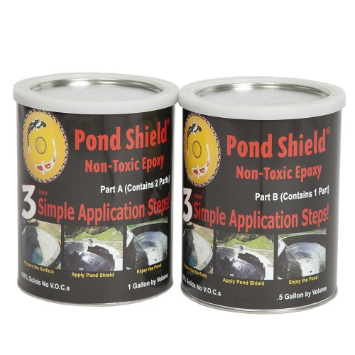 Pond Armor SKU-BLACK-GA Non-Toxic Pond Shield Epoxy Paint, 1.5-Gallon, Black