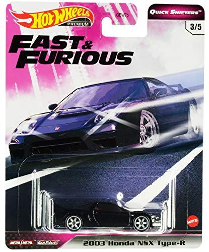DieCast Hotwheels 2020 Premium Fast& Furious Quick Shifters 3/5, 2003 H0nda NSX Type-R (Black)