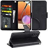 Arae Case for Samsung Galaxy A32 PU Leather Wallet Case Cover [Stand Feature] with Wrist Strap and [3-Slots] ID&Credit Cards Pocket for Samsung Galaxy A32 6.4 inch