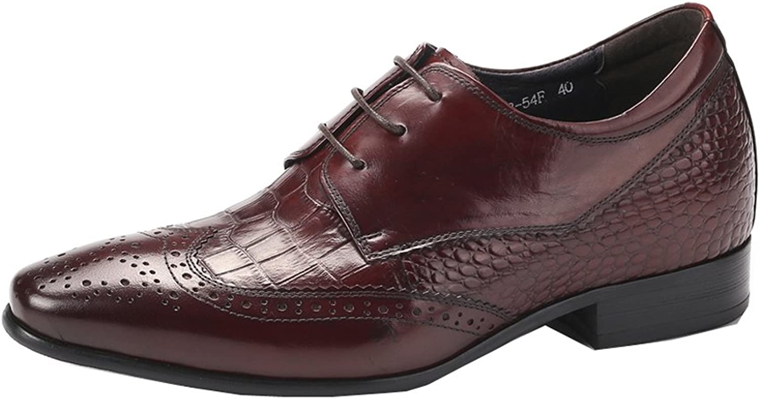 Dilize Men's European Brogue Derby Formal shoes in Real Leather