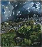 Get Custom Art EL Greco–View von Toledo 24x26 inch