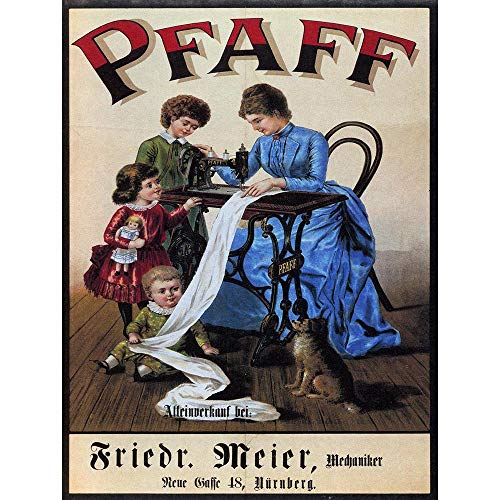 Wee Blue Coo Vintage Pfaff Sewing Machine Germany Vintage Retro Advertising Unframed Wall Art Print Poster Home Decor Premium