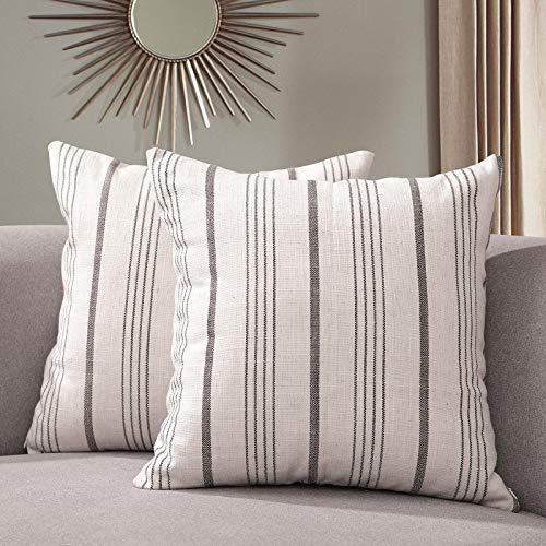 Sunlit Decorative Throw Pillow Case Cushion Covers, Modern Accent Square Pillow Case Cover, 18
