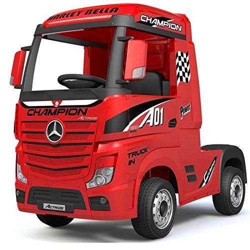12v Mercedes Benz Licensed Artic Truck (Red)