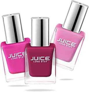 Juice Nail Polish Pack of 3 Baby Pink - 60 / Apple Red - 52 / Cobalt Blue - 05 GLOSS COMBO_25