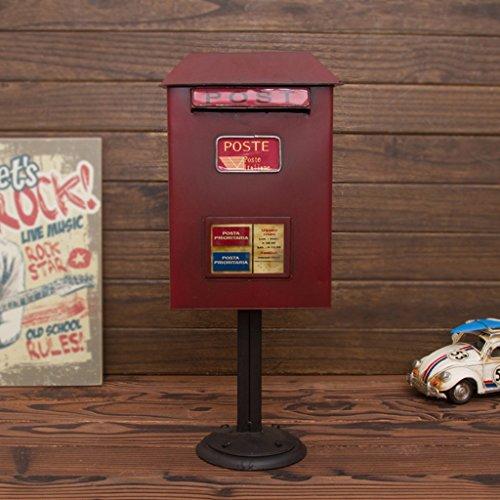 DNSJB staande brievenbus, vintage smeedijzer, waterdichte brievenbus - hoogte 50cm