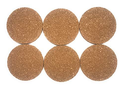 I sottobicchieri in Set offrono 9,5 cm di Diametro/Spessore 5 mm sottobicchieri in Robusto Vetro in Vetro in Vetro Naturale sottobicchiere Bar (6)