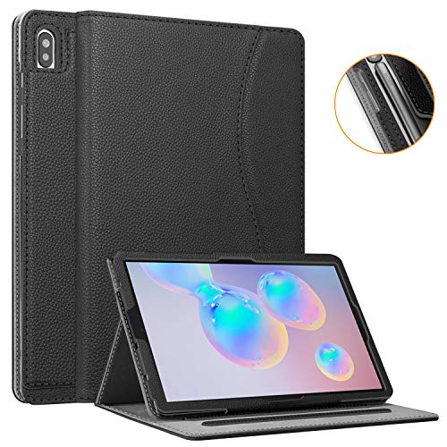 Fintie Case for Samsung Galaxy Tab S6 10.5' 2019 (Model SM-T860/T865/T867), [Patented S Pen Slot Design] Multi-Angle Viewing Stand Cover with Packet Auto Wake/Sleep, Black