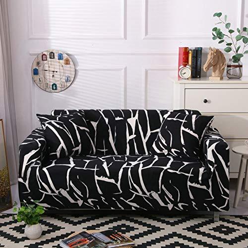 Funda de sofá elástica elástica, Toalla de sofá de algodón Puro, Funda de sofá Antideslizante y a Prueba de Polvo para Sala de Estar A8 de 3 plazas