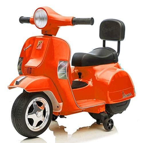 Mediawave Store - Mini Vespa oficial Piaggio PX 150 - Moto eléctrica LT913 - Juguete para niños, Vespa eléctrica para niños, scooter con ruedas (rojo)