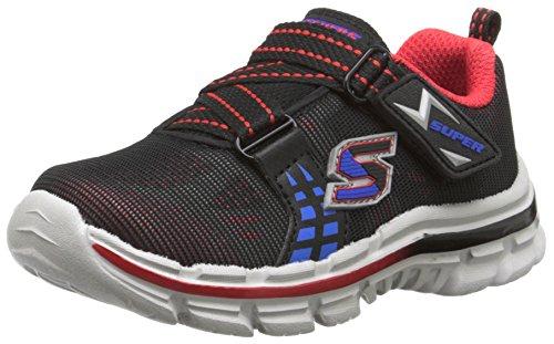 Skechers Skechers Kids Nitrate-Realms TD Athletic Sneaker (Toddler), Black/Red/Blue, 5 M US Toddler