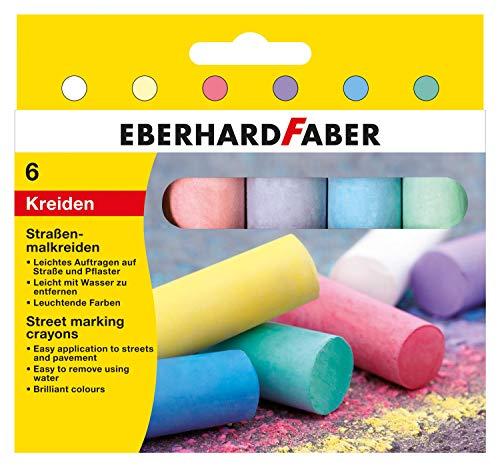 Eberhard Faber 526506 - Straßenmalkreide rund, 6er Kartonetui