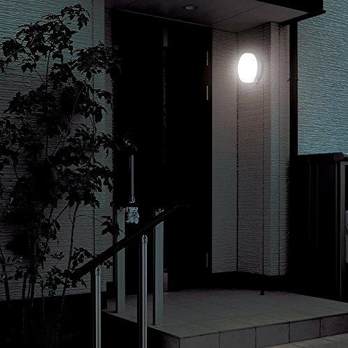 アイリスオーヤマ 屋外センサーライト ウォールタイプ 丸型 白色 BOS-WN1M-WS