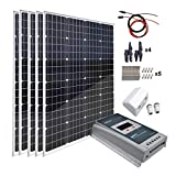 ACOPOWER 500 Watts 12/24 Volts Solar Panel Kit: 5pcs 100W Solar Panels with 40A Mppt LCD Solar...