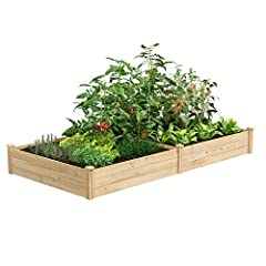 Greens value raised garden bed: Greens Fence value line of cedar raised garden beds allows you to create an open-bottom frame to support your garden. Raised garden beds give your plants the room They need to grow in the location of your choice. Our c...