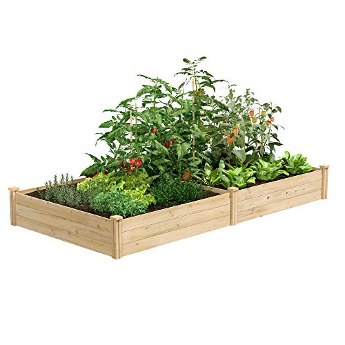 Greenes Fence RCEC6T21B Best Value Cedar Raised Garden Bed Planter 48quot W x 96quot L x 105quot H