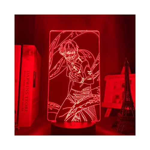 Animación Tokyo Ghoul Ken Decoración del Hogar Lámpara De Mesa Regalo De Cumpleaños Luz De Noche Fría Led En Acrílico Luz De Noche Niño Niña Luz De Fiesta