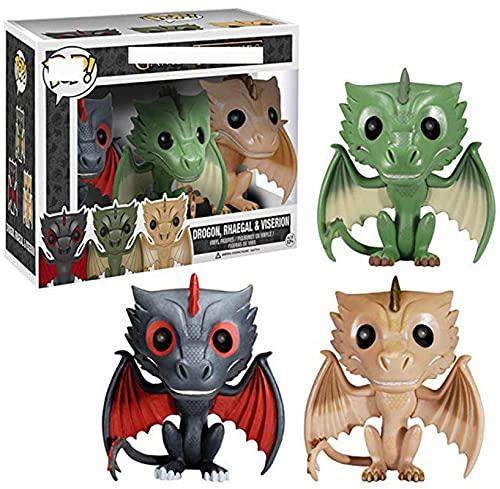 Game Thrones Series Pop Figures Trois Dragons Figurines Pop Collection Vinyl Figure Jouets
