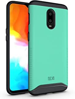 OnePlus 6T Case, TUDIA [Merge Series] Dual Layer Heavy Duty Reinforced Military Standard Extreme Drop Protection/Rugged with Slim Camera Precise Cutouts Phone Case for OnePlus 6T (Mint)