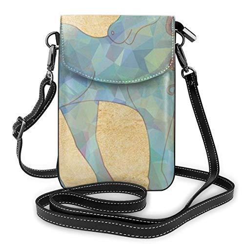 Handy-Geldbörse mit Einhorn-Motiv, magisches Pferd, aus PU-Leder, modische Handtasche mit verstellbarem Riemen