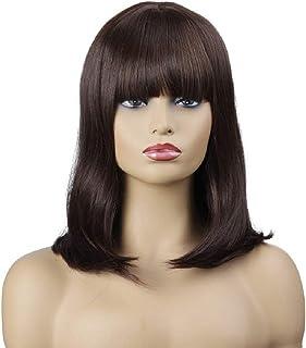 Estalló la peluca Moda femenina europea y americana Fibra química Qi Liuhai Pelo corto y rizado