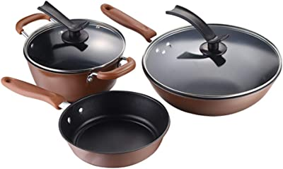Cookware set, cast iron casting non-stick pan general purpose cooker less fume