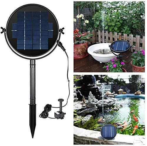 ZhiWei 3W Solarteichpumpe Für Einen Pool Koi Pond Pot Vogel-Bad-Garten-Dekoration Solarbetriebene Tauchkreiswasserpumpe Kit