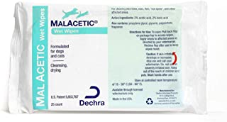 Dechra MalAcetic Wet Wipes for Cats and Dogs 25 Count