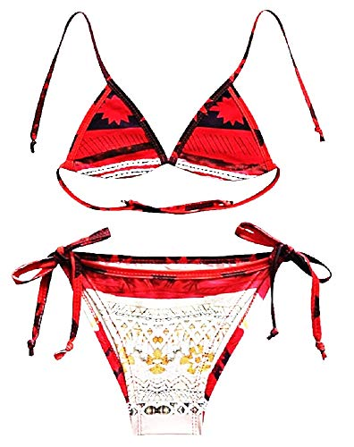 Inception Pro Infinite - Vaiana Mädchen Badeanzug - Mädchen - Moana - Zweiteiler - Bikini - Ozeanien - Slip - Triangel - Meer - Schwimmbad - Originelle Geschenkidee - Größe 100-3/4 Jahre