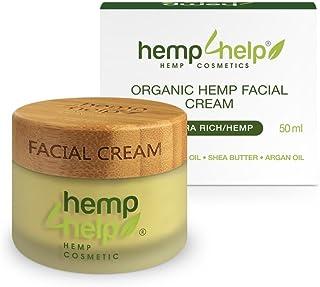 FEUCHTIGKEITS-CREMENACHT-PFLEGE von Hemp4Help: BIO Hanf-Öl Jojoba-Öl und Arganöl Extrackt, Shea-Butter, Vitamin-E. BIO GESICHTS-CREME für TROCKENE-SENSIBLE Haut sowie FETTIGE-ENTZÜNDLICHE Haut | 50ml