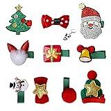 nuoshen 10 Stück Weihnachten Baby Haarschmuck, süße Haarclip für Kinder Haarspangen mädchen Haarnadel für Weihnachtsfeier