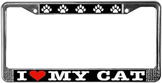 CafePress Heartcatlicplatelower Chrome License Plate Frame, License Tag Holder