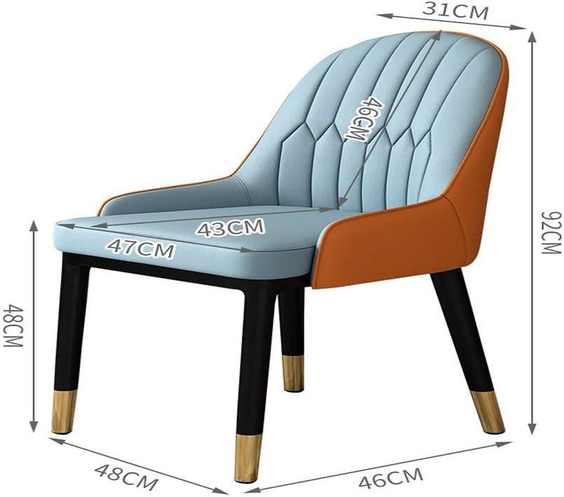TITO Chaise de salle à manger avec dossier d'ordinateur portable italien Net rouge table et chaise simple ménage simple petite chaise d'appartement moderne (L) D