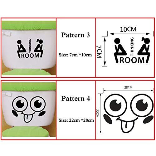DAIZHJ 4 stks Grappige Pinguïn/knuffels/glimlach/denken Toilet Stickers wassen Badkamer deur Decor Voor Home Decoratie Vinyl Decals muursticker