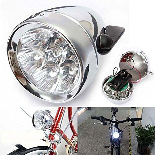 Toryger Classic Bike Headlight(7 LEDs) with Bracket,Vintage Retro Bicycle Front Light Lamp,DIY Designer Night Ride Safely Bicycle Headlamp