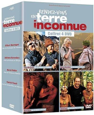 Rendez-vous en terre inconnue : Gilbert Montagné, Adriana Karembeu, Muriel Robin & Patrick Timsit - coffret 4 DVD