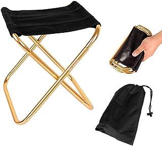 Sprießen Mini Tabouret Chaise de Camping Siège Assise Pliant Portable Pliable Ultra Léger Chaise, Hiking, BBQ, Jardin Piqu...