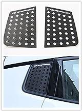 Highitem 2PCS C Pillar Window Glass Sports Plate Molding Trim Decoration Sun Shield Aluminum Alloy For Jeep Compass 2017Up Black