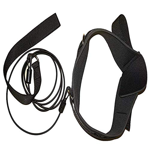 Strong Thicken Swimming Belt - Swim Bungee Training Belt Swim Resistance Belt Swim Exerciser Belt Swim Tether for Stationary Resistance Training/Endless Pool - Adult, Kid, Pro, Amateur use