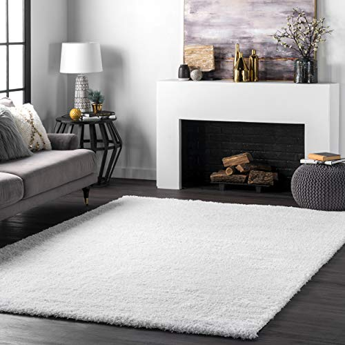 nuLOOM Soft & Plush Cloudy Shag Rug, 5' 3' x 7' 6', Snow...